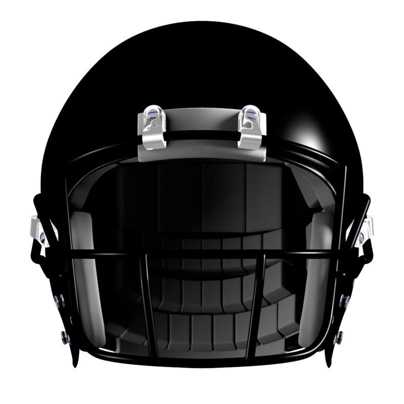 american football helmet facemasks 3d model