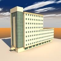 Lowpoly Office Building LPBldAP1