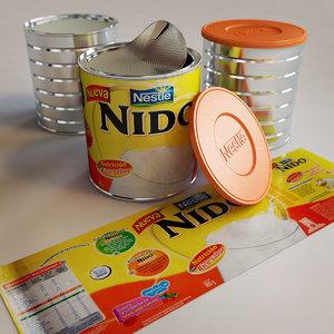 nido instant milk 3d 3ds