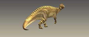 3d model animate iguanodon rig