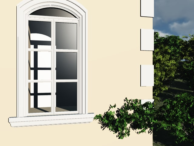 3d model window architectural