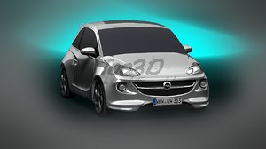 city car opel vauxhall 3d max