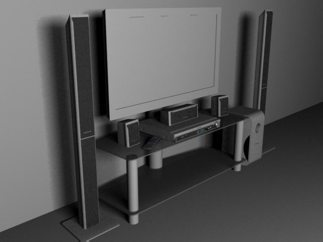 3d model 5 home theatre panasonic
