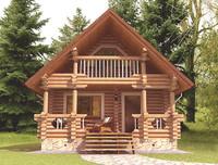 Log House 6.4 x 8.0m