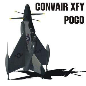 convair xfy pogo 3d model