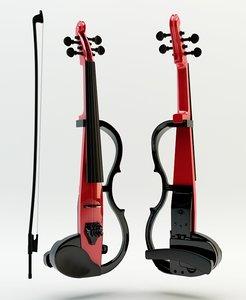electro violin sv 130 3d model