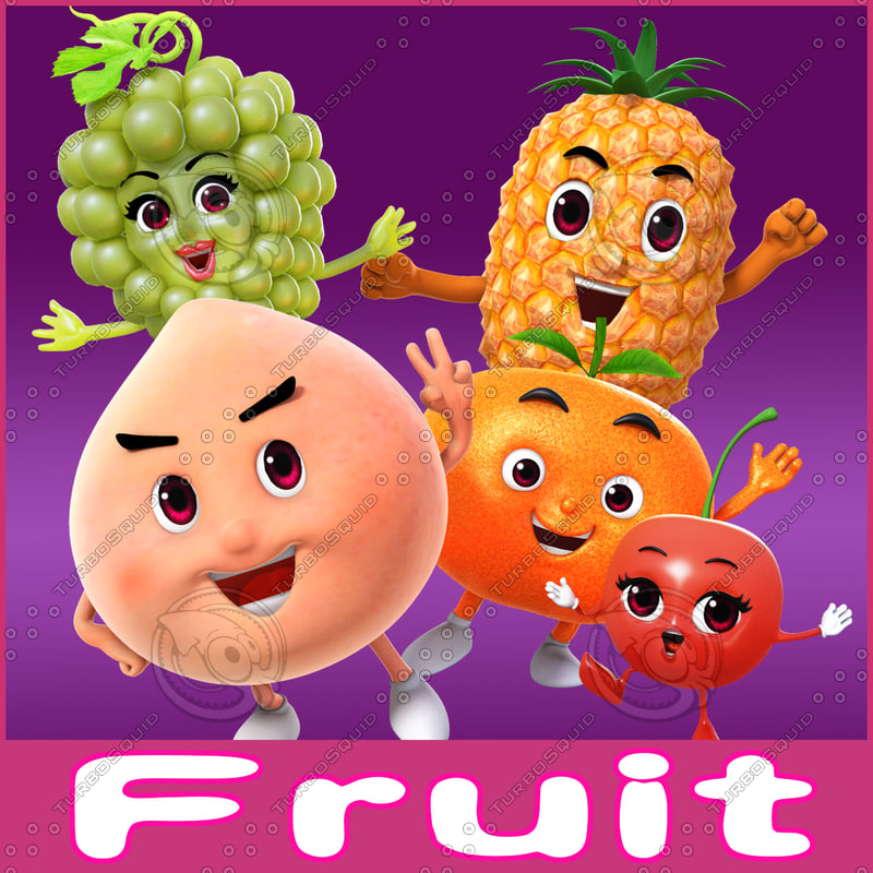 cartoon toon fruit 3d ma