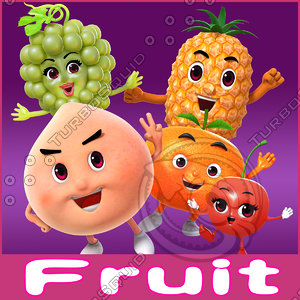 cartoon toon fruit 3d ma