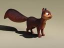 squirrel ecureuil 3d max
