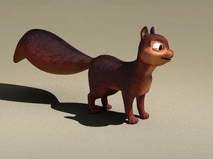 squirrel ecureuil 3d max