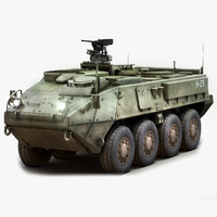 stryker icv military vehicle 3d max