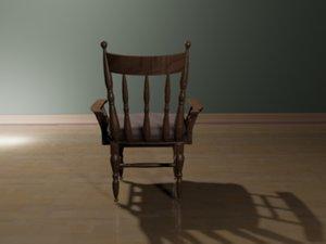 3d model master dinning room chair