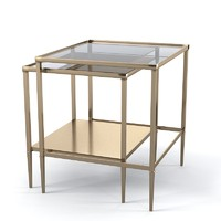 Baker 3662 Barbara Barry Golden Gate nesting table