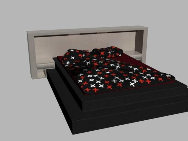 free obj model bed