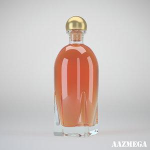 3d bottle whisky