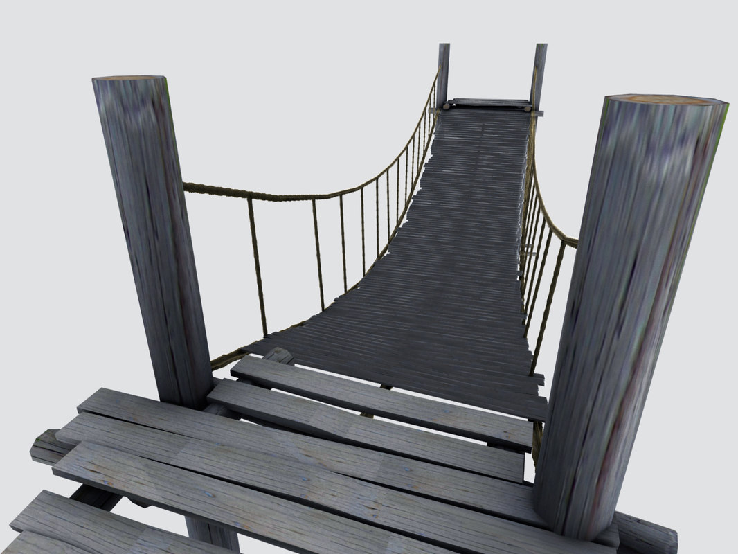 3ds max wooden medieval bridges