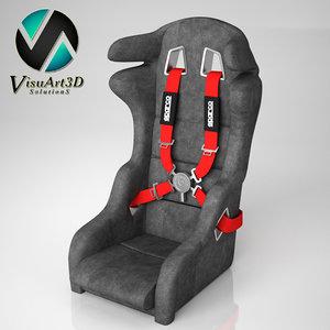 3d car seat wrc model