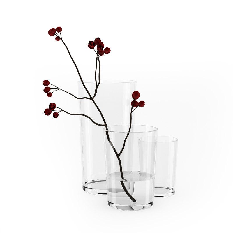 3d c4d flower vase