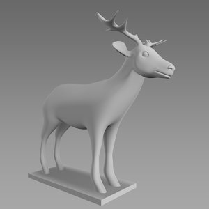 deer mesh animation 3d model
