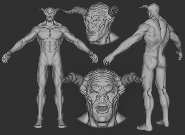 3d model of demon lord