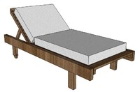 pool chair 3d 3ds