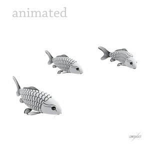 3d ma koi fishes animation