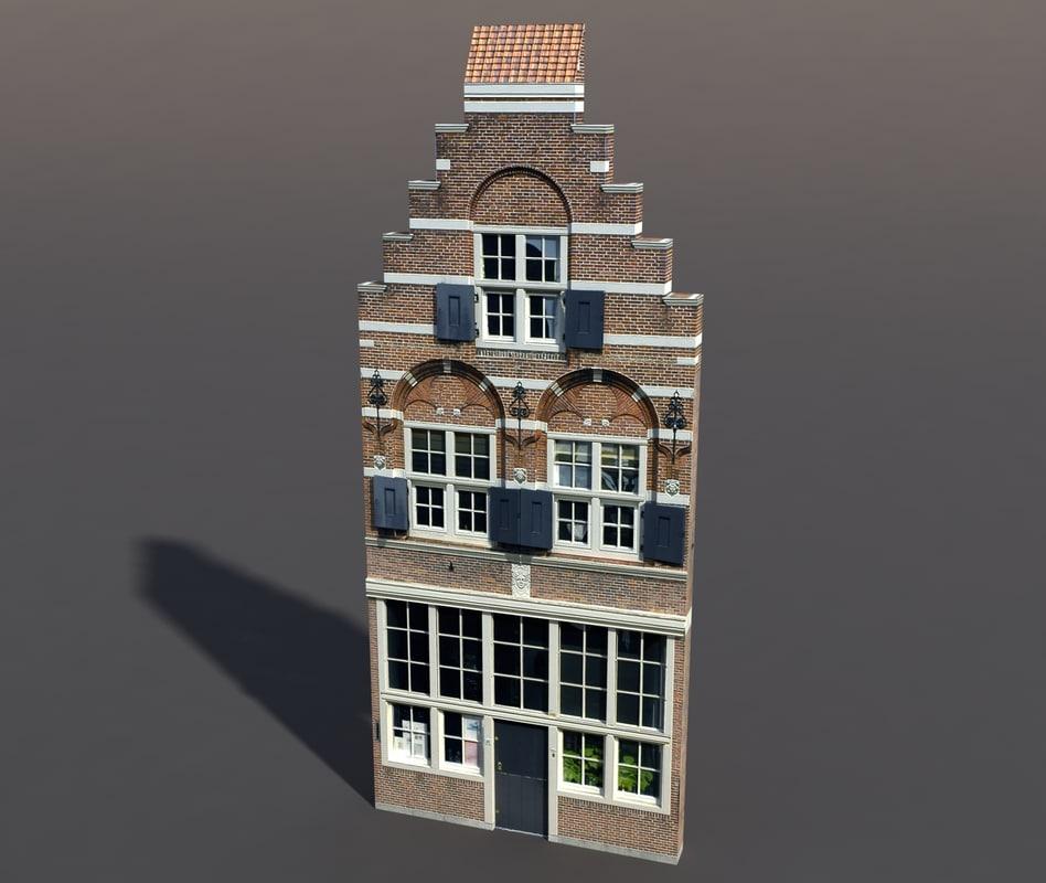 building exterior modeled 3d model