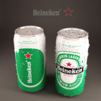 Heineken metallic can