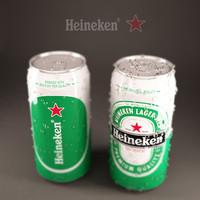 Heineken metallic can