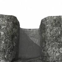 3d rocky walls