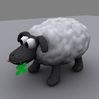 3ds max cartoon sheep