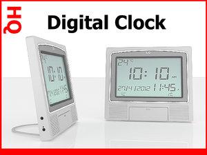 digital clock 3d max