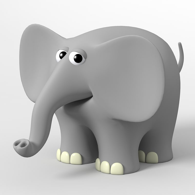 3d model of elephant toon