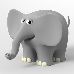 3d model of elephant toon