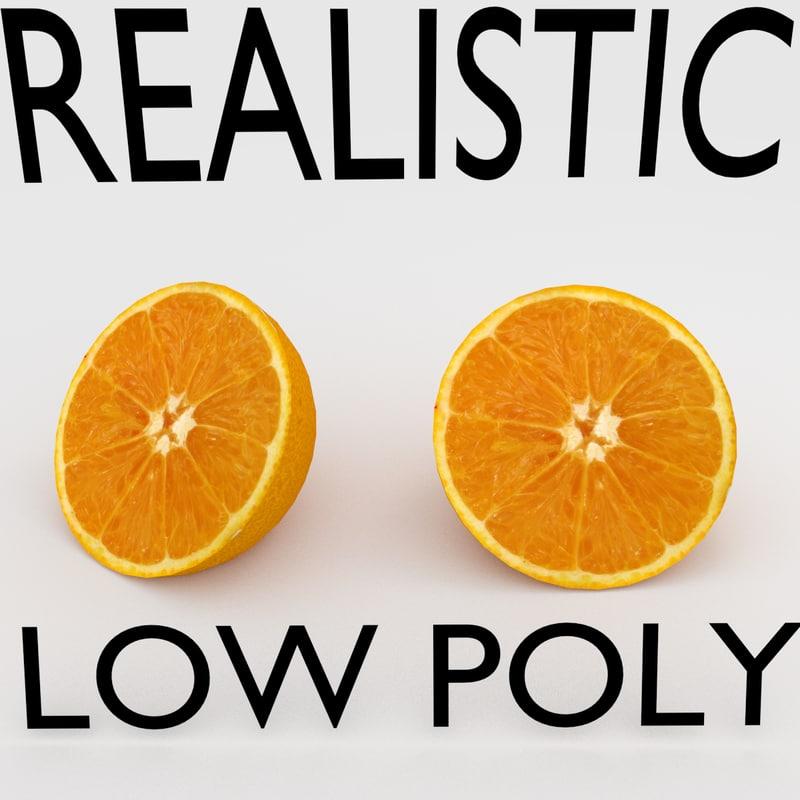 maya realistic orange