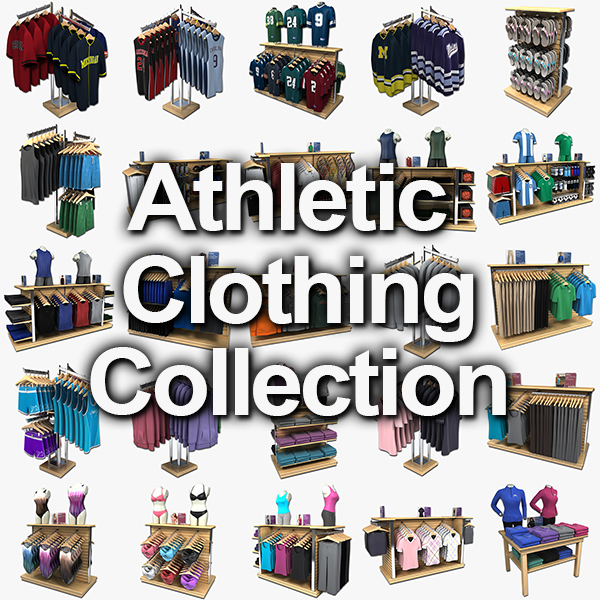 athletic clothing 3d max