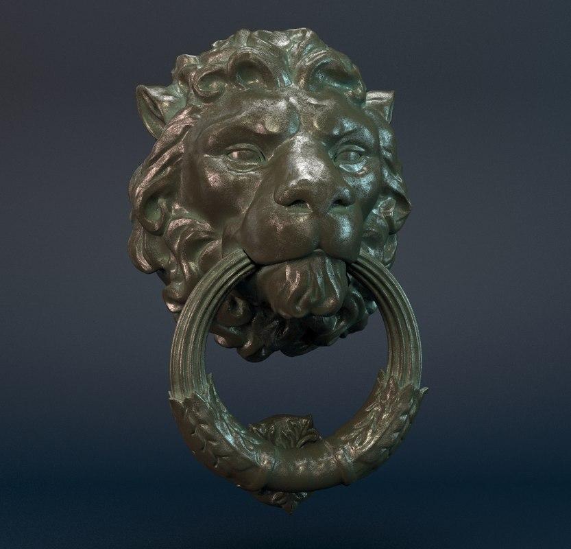 door knocker lion max