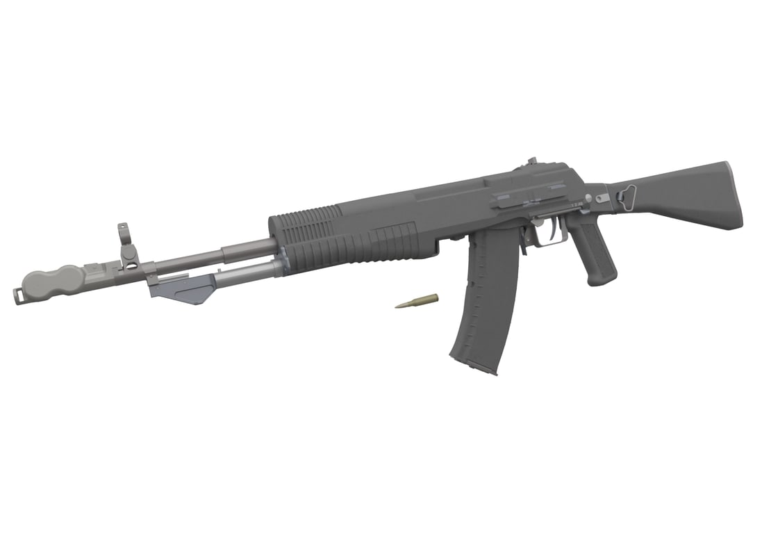 3d an-94 nikonov assault rifle