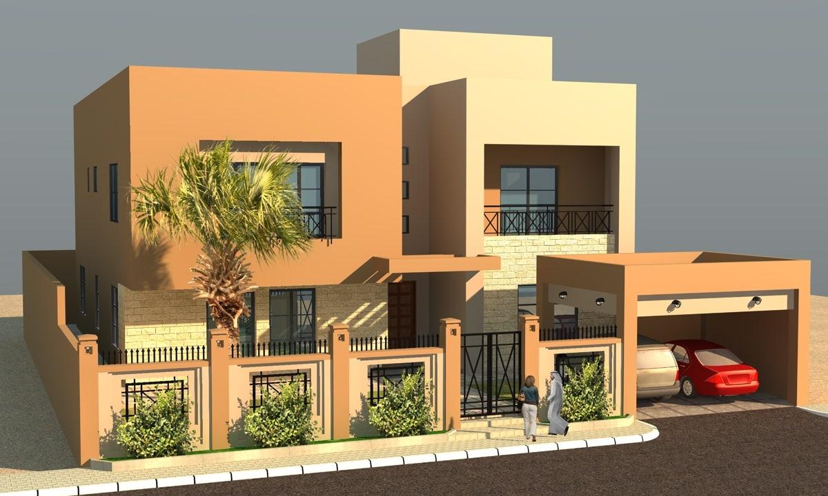3ds max modern villa