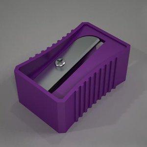 3d model of pencil sharpener