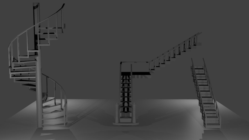 3d model stairs 3