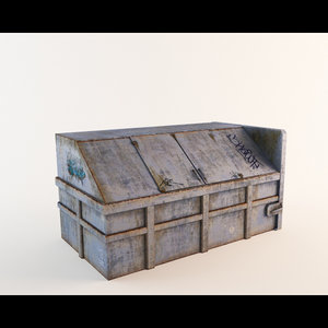 garbage dumpster dirty 3d max