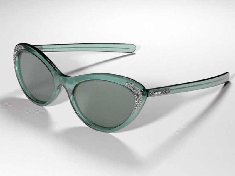 3d model sun glasses vintage