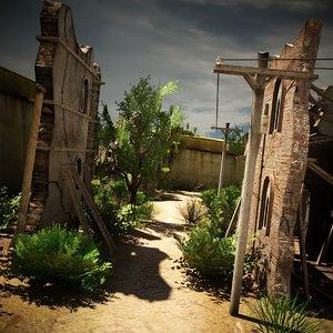 destroyed village environment 2 max