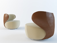 3d bao chair walter knoll model