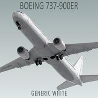 3d boeing plane model