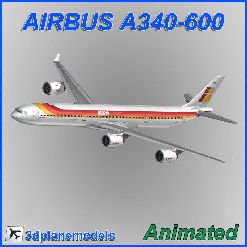 airbus a340-600 3d obj