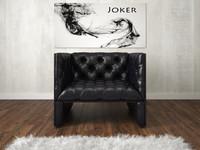 chair armchair chesterfield 3d max