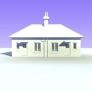 semi detached bungalow houses c4d