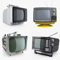 Collection retro portable TV 1980s 1970s